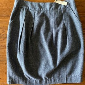 Maude denim/tweed look skirt